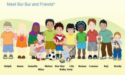 Bur Bur and Friends Characters