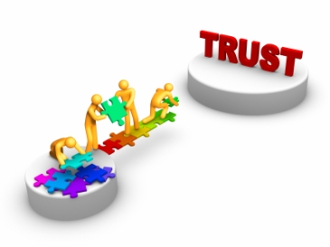 Building trust is a process of modeling behavior shared vision and repeating messaging