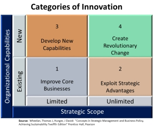 Categories of Innovation, Wheelan and Hunger 2012 13th ed